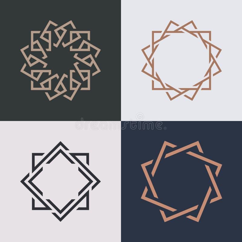 Дизайн вектора значка логотипа абстрактного вензеля элегантный иллюстрация штока