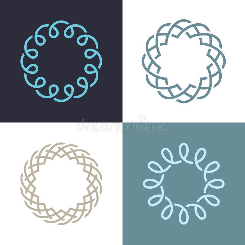 Дизайн вектора значка логотипа абстрактного вензеля элегантный бесплатная иллюстрация