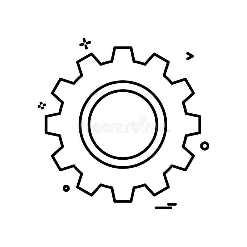 дизайн вектора значка шестерни бесплатная иллюстрация