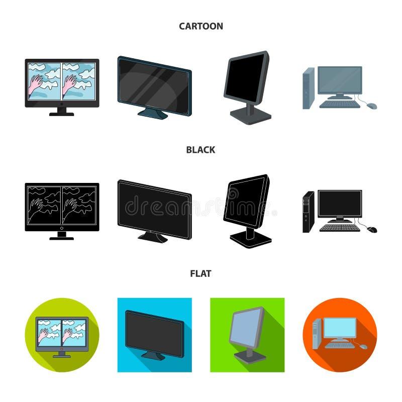 Дизайн вектора значка экрана и компьютера Собрание иллюстрации вектора запаса экрана и модель-макета бесплатная иллюстрация