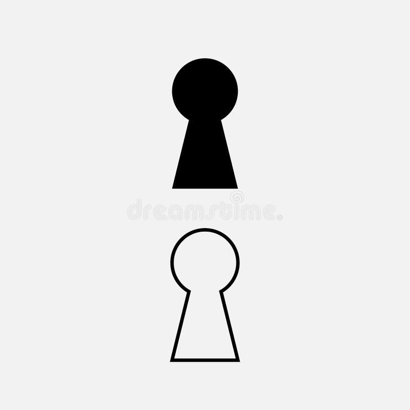 Дизайн вектора значка Keyhole иллюстрация штока