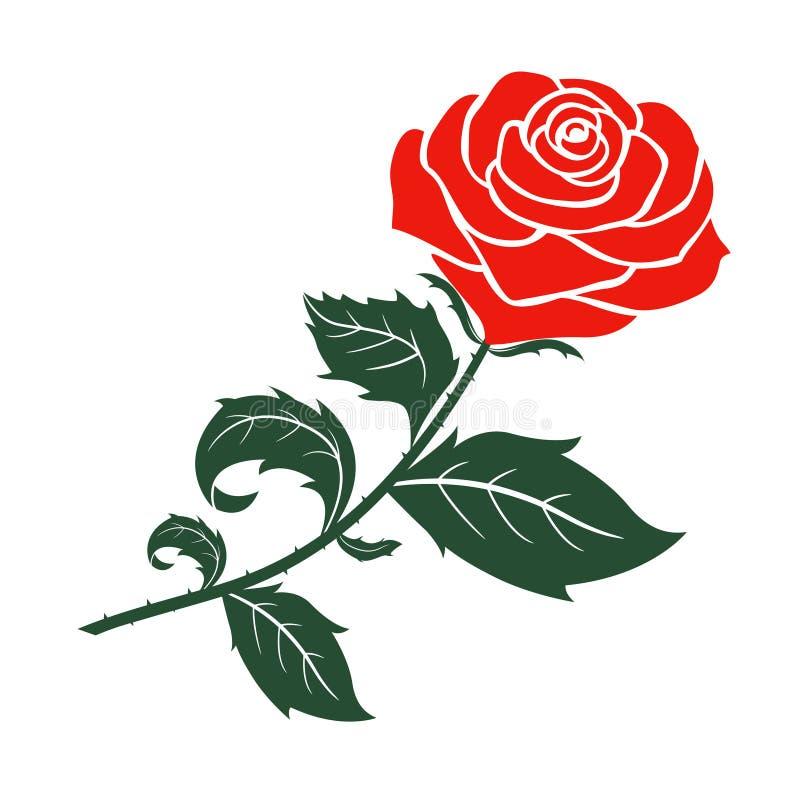 Дизайн вектора красной розы иллюстрация вектора