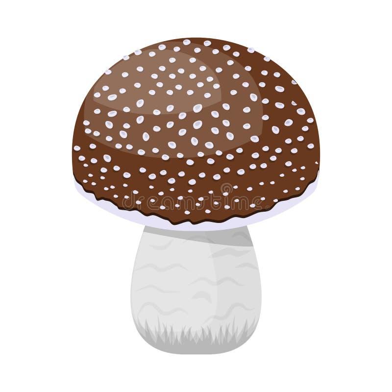 Дизайн вектора логотипа гриба и мухомора Собрание гриба и ядовитой иллюстрации вектора запаса иллюстрация вектора