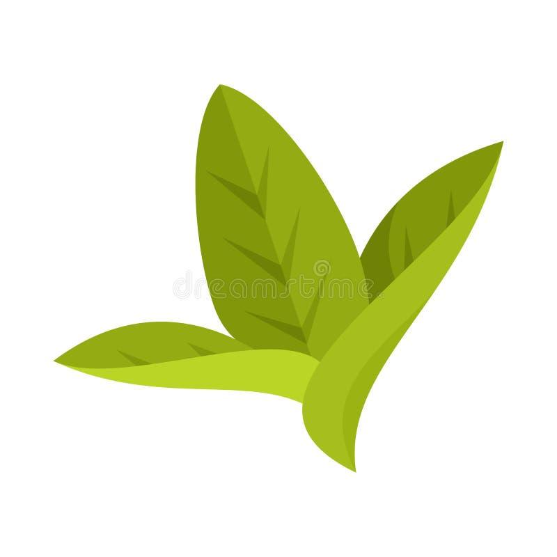 Дизайн вектора логотипа лист и листьев Собрание лист и ботанического сокращенного названия выпуска акций для сети иллюстрация вектора