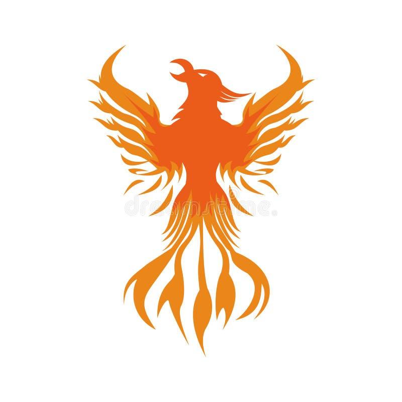 Дизайн вектора логотипа огня Феникса бесплатная иллюстрация