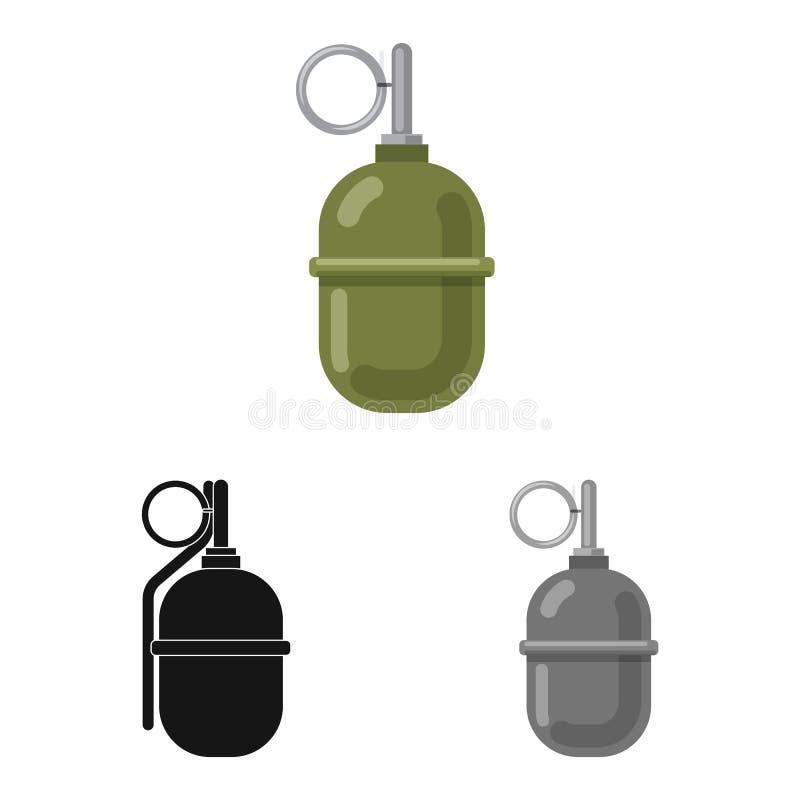 Дизайн вектора логотипа оружия и оружия Собрание значка вектора оружия и армии для запаса иллюстрация штока