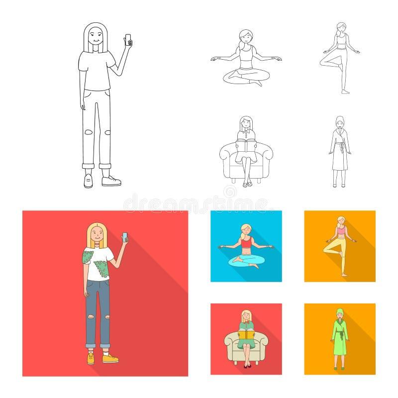 Дизайн вектора логотипа позиции и настроения Установите позиции и женского сокращенного названия выпуска акций для сети иллюстрация штока