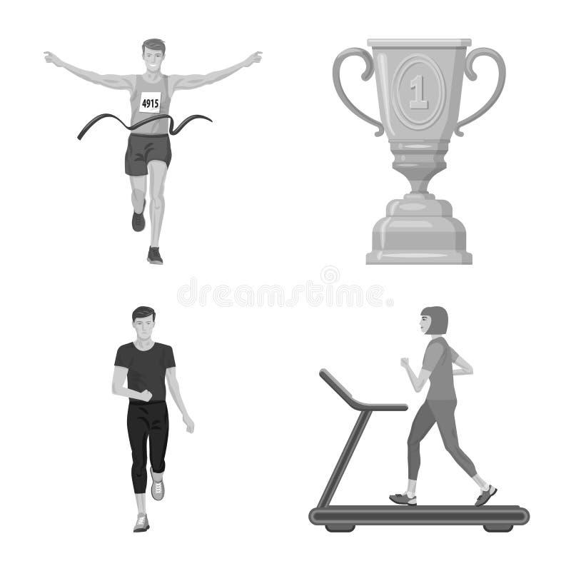 Дизайн вектора логотипа успеха и марафона Собрание успеха и сокращенного названия выпуска акций победителя для сети иллюстрация вектора