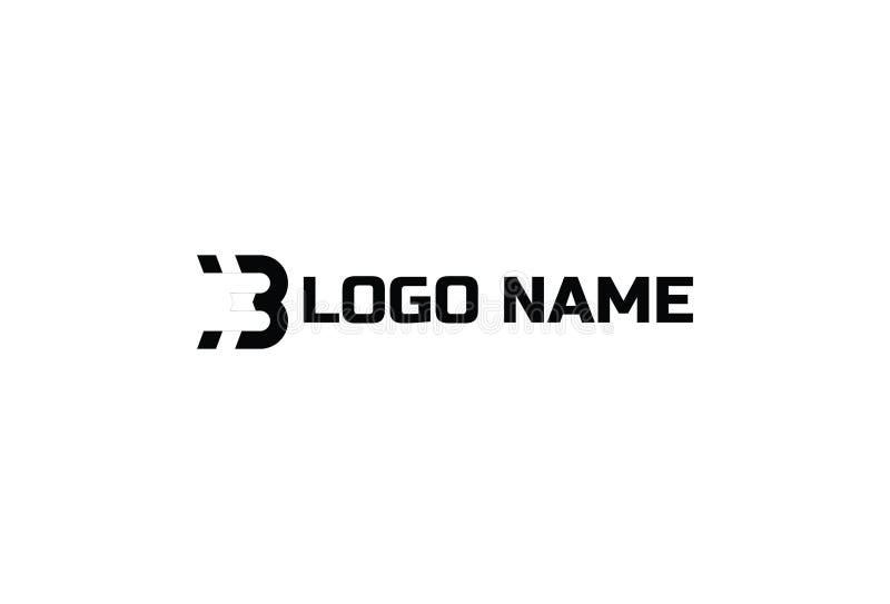 Дизайн вектора логотипа b алфавита иллюстрация вектора
