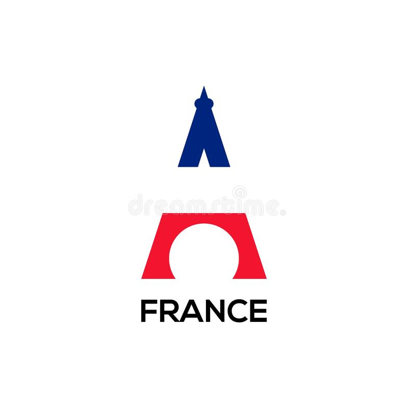 Дизайн вектора логотипа flage Eifel бесплатная иллюстрация
