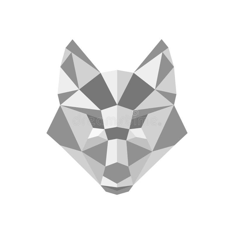 Дизайн вектора логотипа Fox полигональный иллюстрация штока