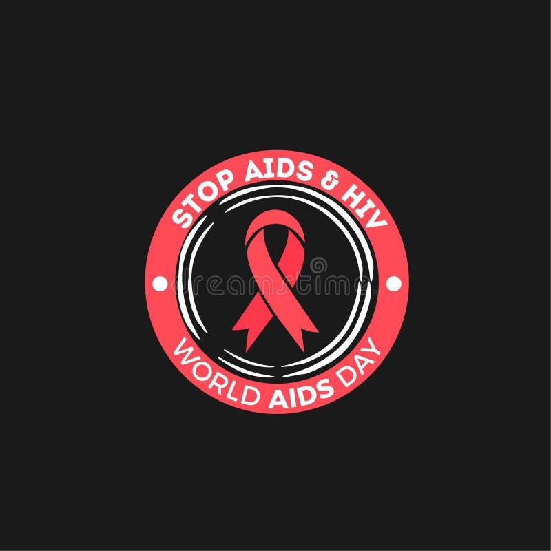 Дизайн вектора Международного дня СПИДА стоковое изображение