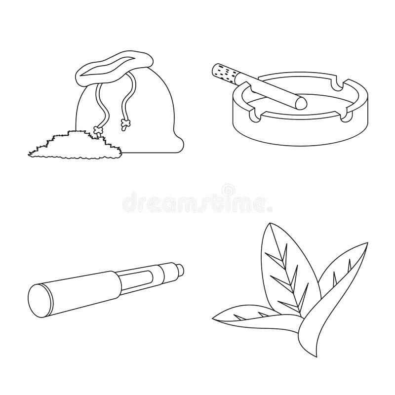 Дизайн вектора оборудования и куря логотипа Собрание иллюстрации вектора запаса оборудования и курильщика иллюстрация штока