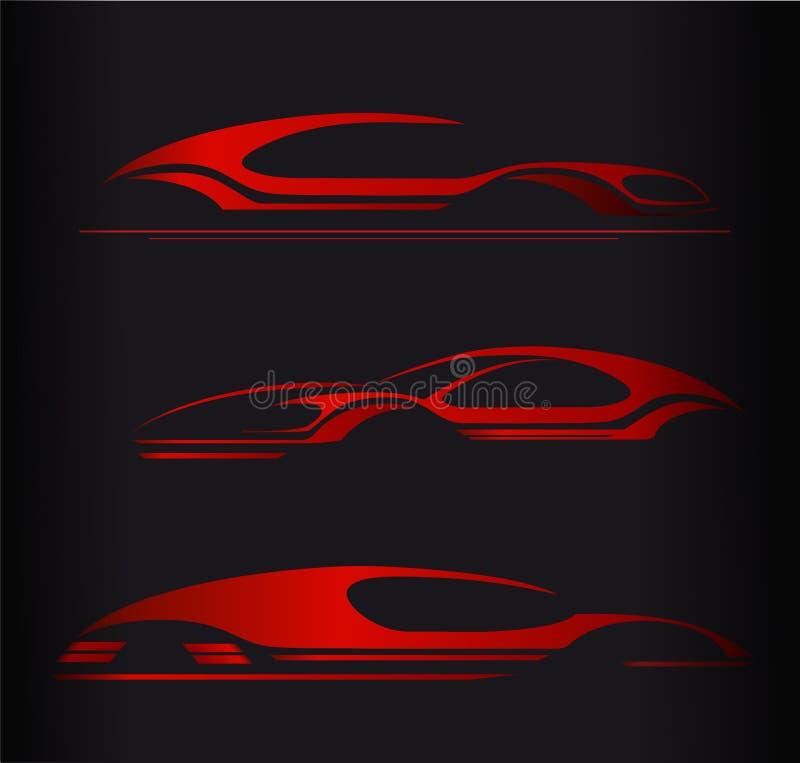 Дизайн вектора логотипа автомобильной компании иллюстрация штока