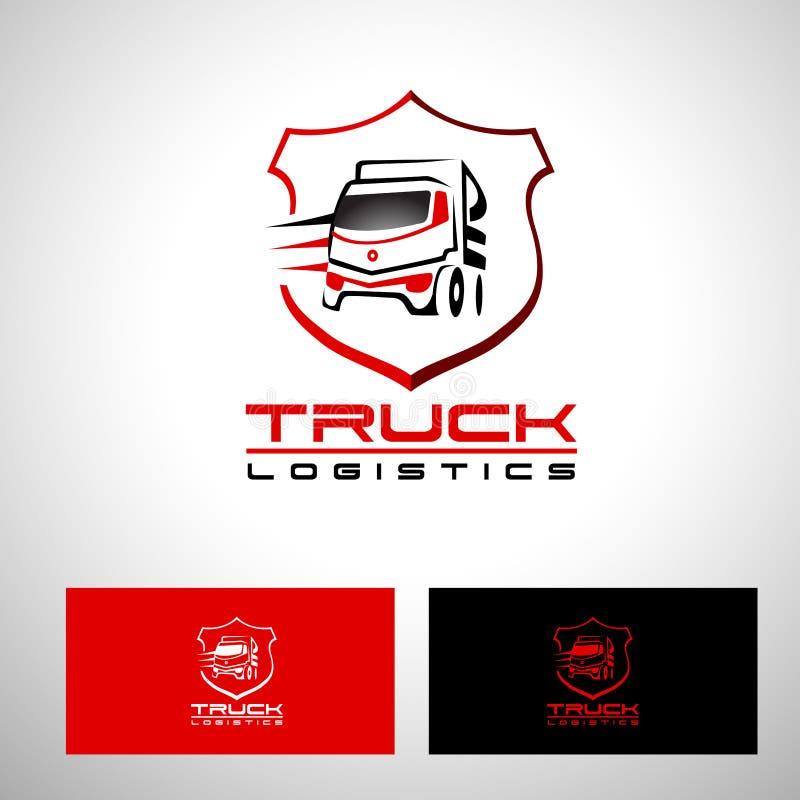 Дизайн вектора логотипа тележки транспорта иллюстрация вектора