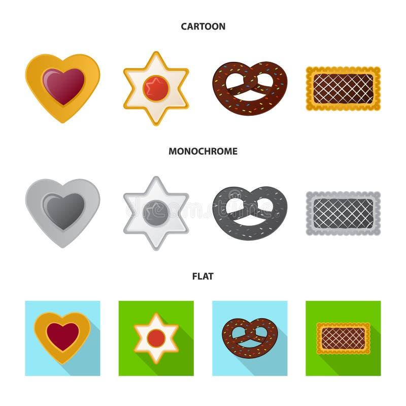 Дизайн вектора печенья и испечь знак Установите значка вектора печенья и шоколада для запаса бесплатная иллюстрация