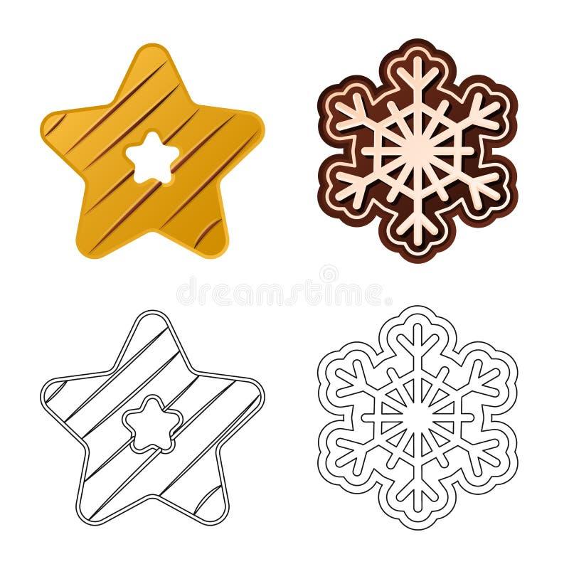 Дизайн вектора печенья и испечь знак r иллюстрация штока