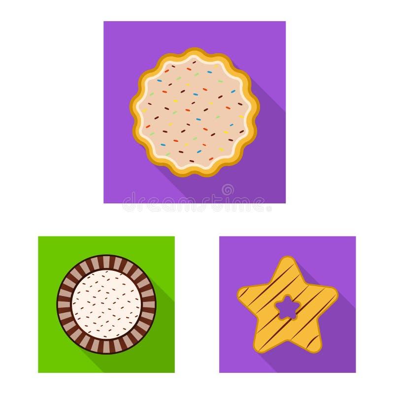 Дизайн вектора печенья и испечь значок Собрание сокращенного названия выпуска акций печенья и шоколада для сети бесплатная иллюстрация
