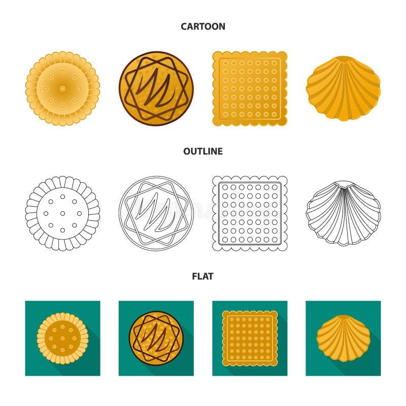 Дизайн вектора печенья и испечь значок r иллюстрация штока