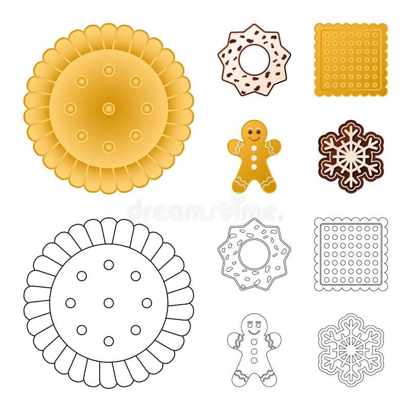 Дизайн вектора печенья и испечь логотип Собрание иллюстрации вектора запаса печенья и шоколада иллюстрация штока