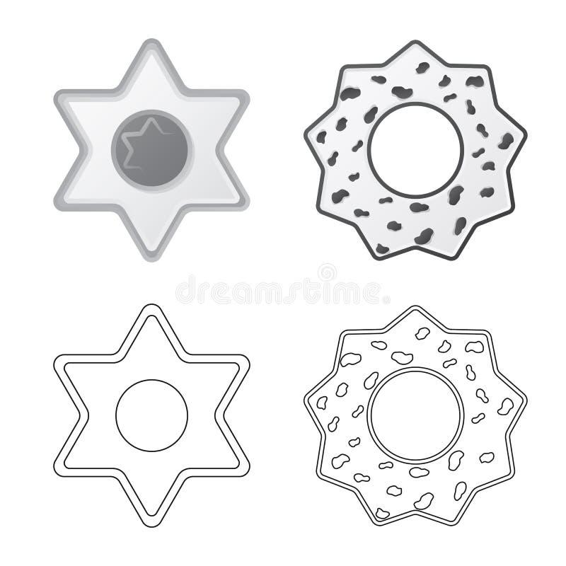 Дизайн вектора печенья и испечь логотип Установите иллюстрации вектора запаса печенья и шоколада бесплатная иллюстрация