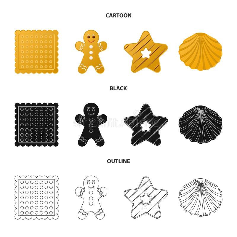 Дизайн вектора печенья и испечь логотип r иллюстрация штока