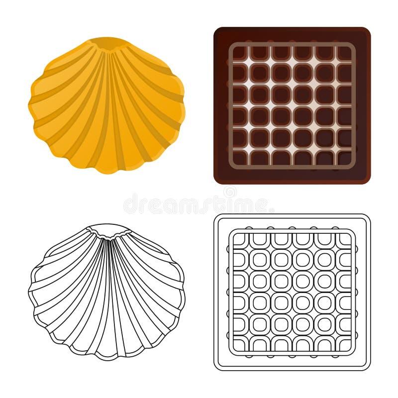 Дизайн вектора печенья и испечь логотип r бесплатная иллюстрация