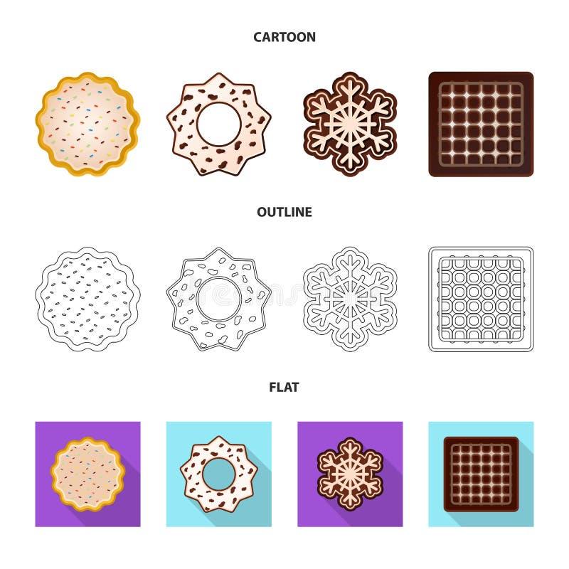 Дизайн вектора печенья и испечь символ Собрание значка вектора печенья и шоколада для запаса бесплатная иллюстрация