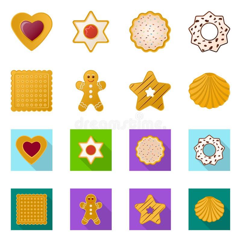Дизайн вектора печенья и испечь символ Собрание иллюстрации вектора запаса печенья и шоколада иллюстрация штока