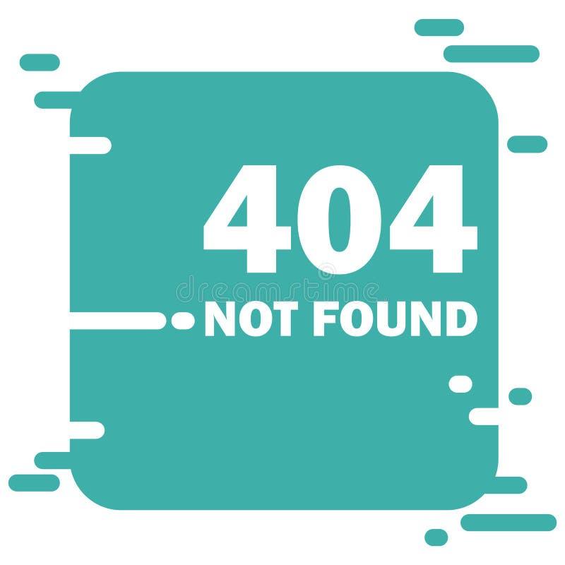 Дизайн вектора плана страницы ошибки 404 найденный Концепция вебсайта современная творческая иллюстрация вектора