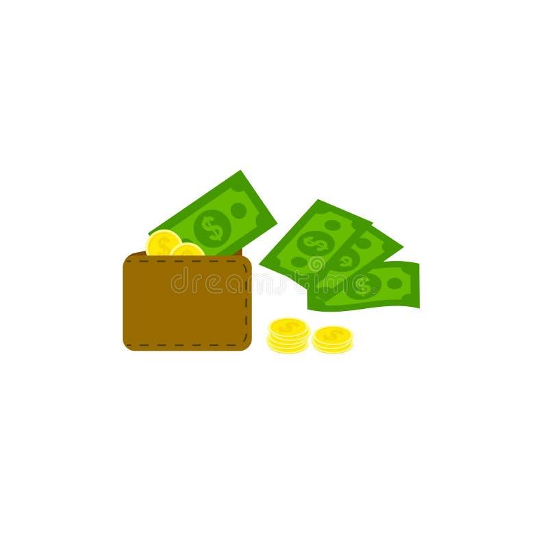 Дизайн вектора портмона денег, дизайн вектора портмона денег плоский стиль дизайна финансовых символов бесплатная иллюстрация