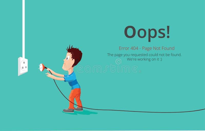 Дизайн вектора постраничного макета ошибки 404 Концепция страницы вебсайта 404 творческая бесплатная иллюстрация