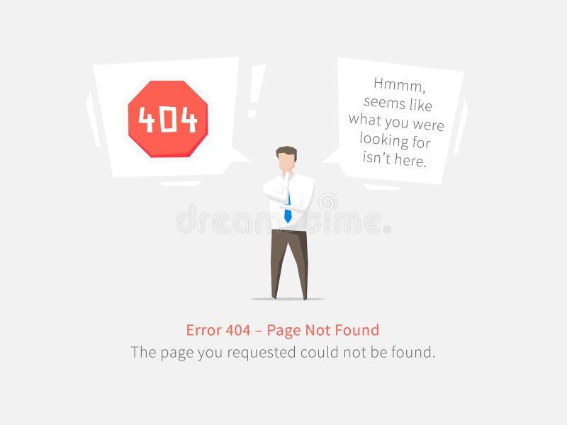 Дизайн вектора постраничного макета ошибки 404 иллюстрация штока