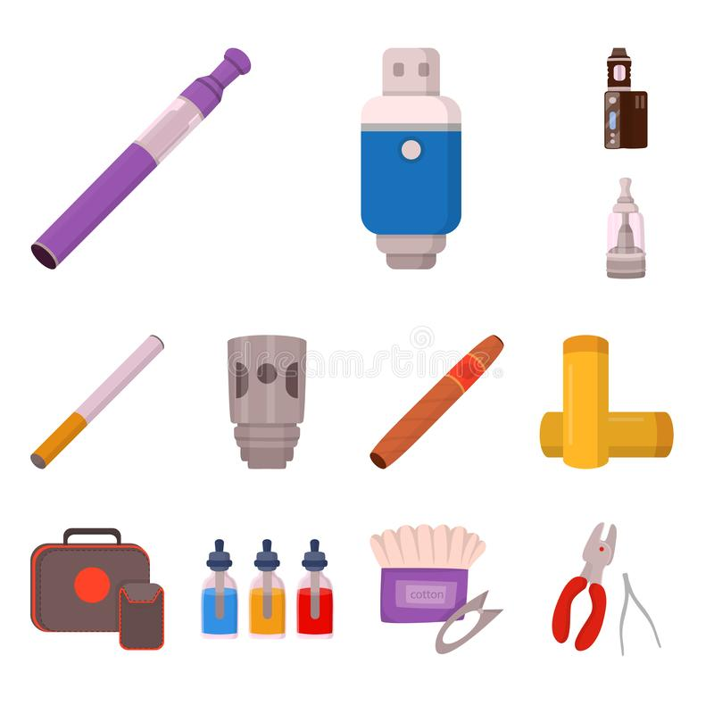 Дизайн вектора прибора и электронного символа Установите символа прибора и очищенного смазочного масла для сети иллюстрация штока