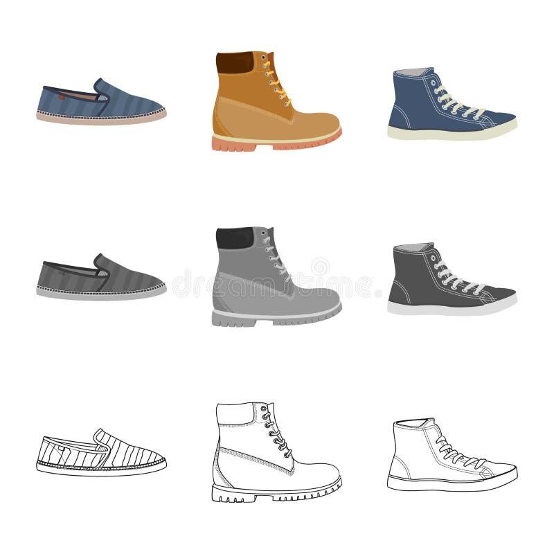 Дизайн вектора символа ботинка и обуви r бесплатная иллюстрация