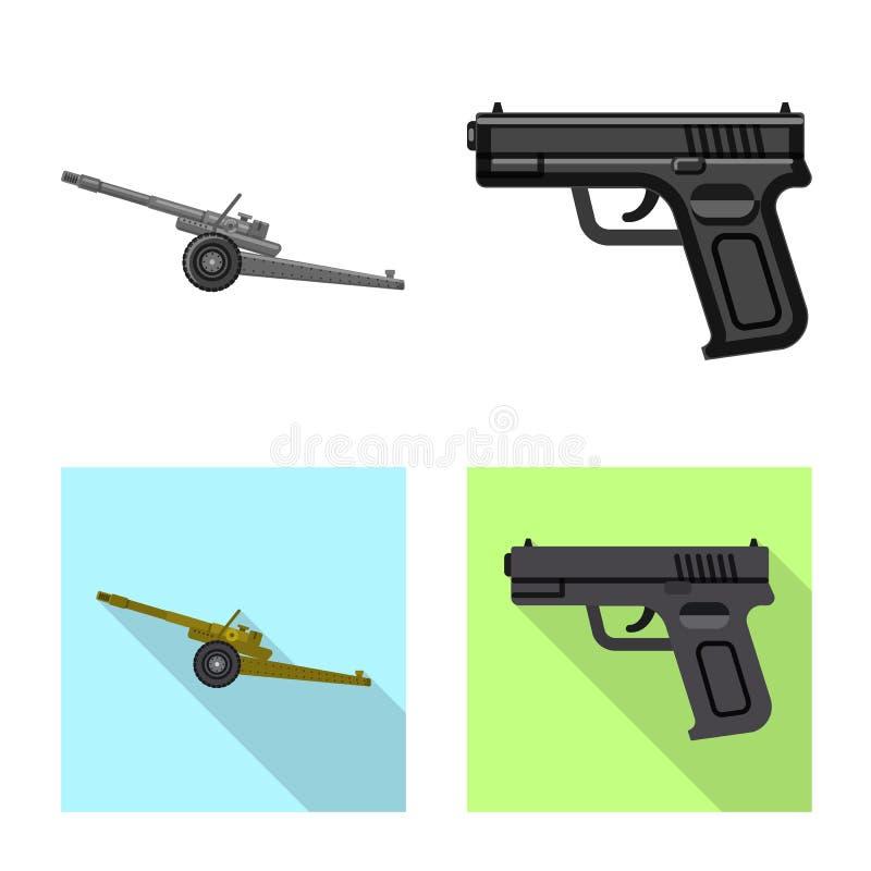 Дизайн вектора символа оружия и оружия Собрание значка вектора оружия и армии для запаса бесплатная иллюстрация