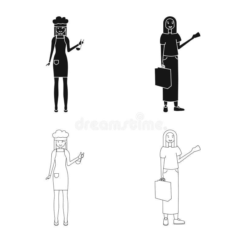 Дизайн вектора символа позиции и настроения Собрание позиции и женского сокращенного названия выпуска акций для сети иллюстрация штока