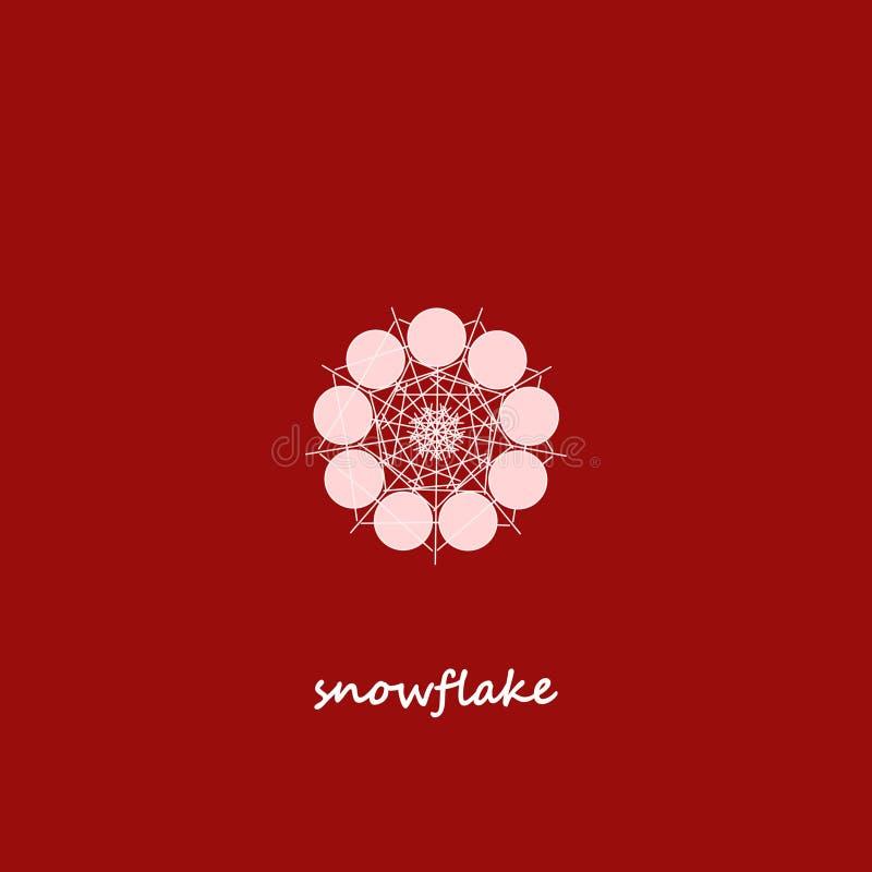 Дизайн вектора символа снежинки для логотипа бесплатная иллюстрация
