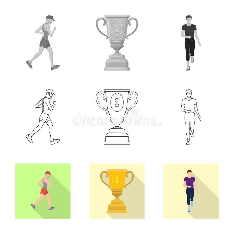 Дизайн вектора спорта и знака победителя r иллюстрация вектора