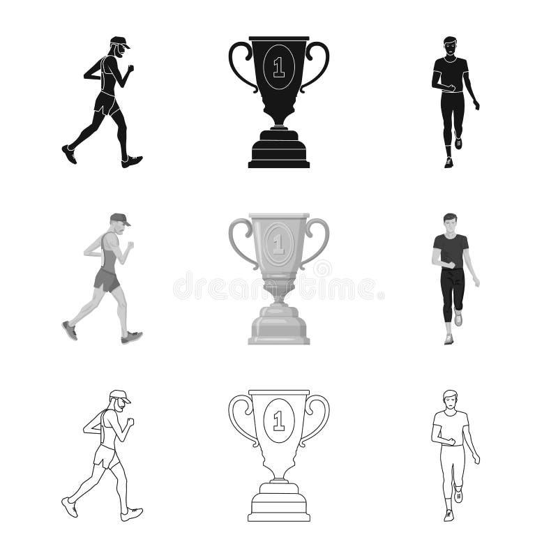 Дизайн вектора спорта и логотипа победителя Собрание значка вектора спорта и фитнеса для запаса бесплатная иллюстрация