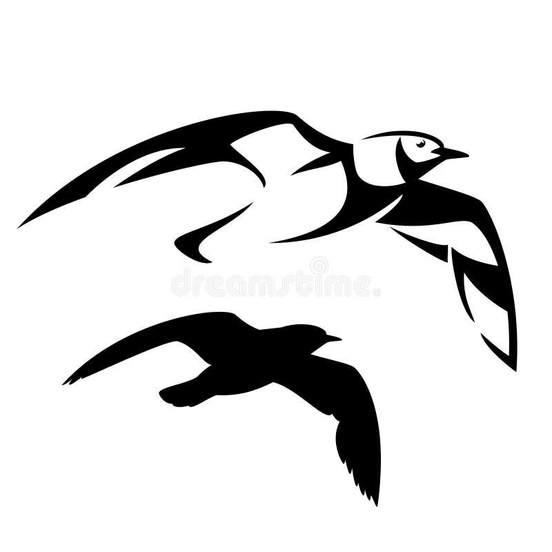 Дизайн вектора чайки летания иллюстрация вектора