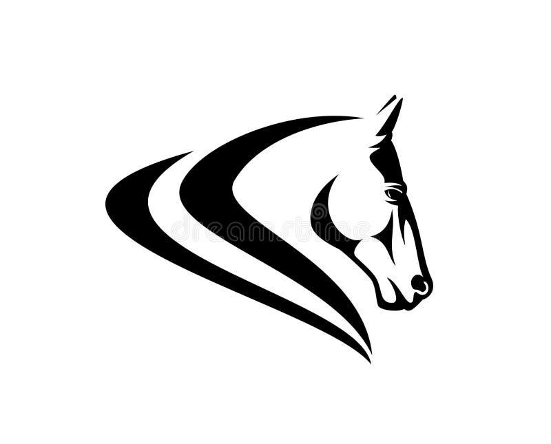 Дизайн вектора черноты профиля головы лошади простой бесплатная иллюстрация