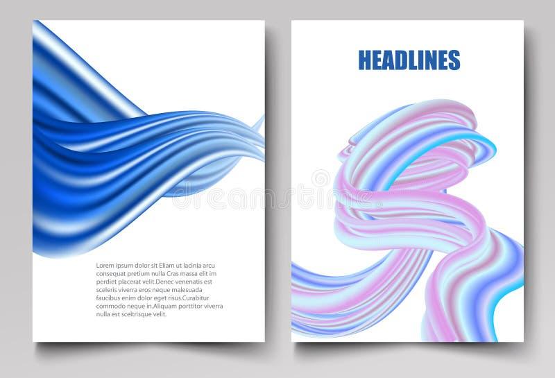 Дизайн вектора шаблона для брошюры, годового отчета, журнала, плаката, корпоративного представления, портфолио, волны летчика гол иллюстрация вектора
