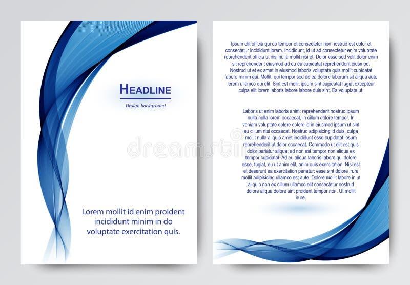 Дизайн вектора шаблона для брошюры, годового отчета, кассеты, плаката, корпоративного представления, рогульки иллюстрация штока