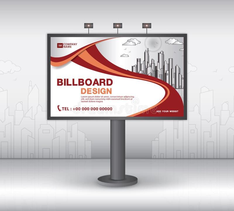 Дизайн вектора шаблона знамени афиши, реклама, реалистическая конструкция для на открытом воздухе рекламы на предпосылке города иллюстрация штока