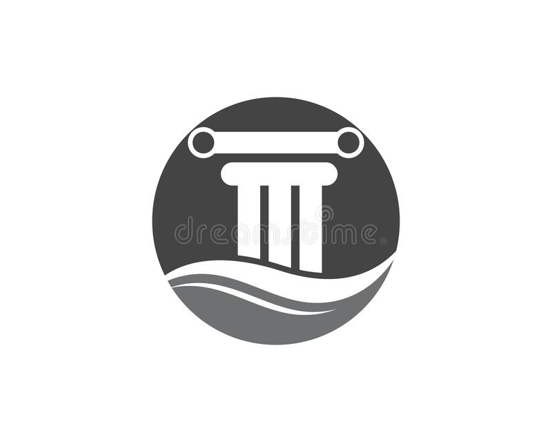 дизайн вектора шаблона логотипа столбца иллюстрация штока