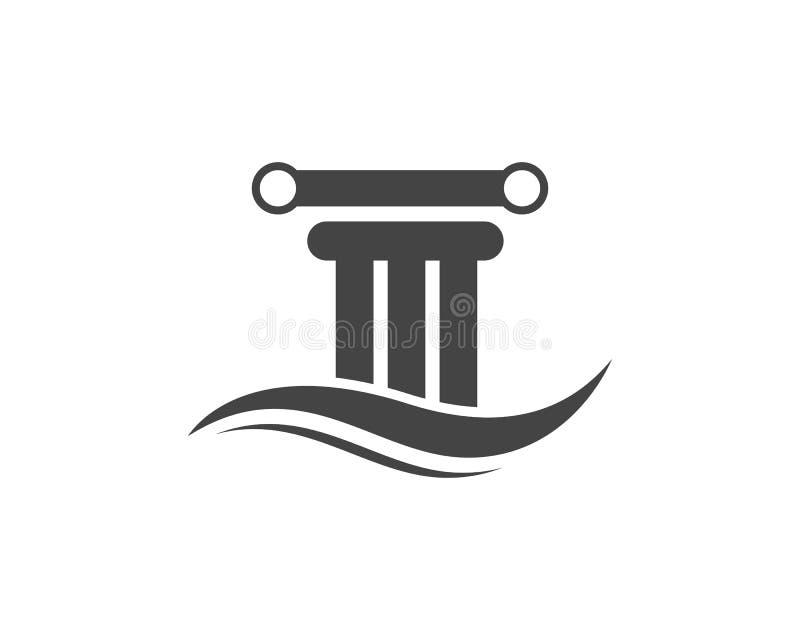дизайн вектора шаблона логотипа столбца иллюстрация вектора