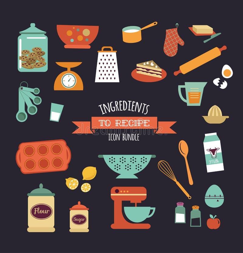 Дизайн вектора шаблона рецепта еды доски бесплатная иллюстрация