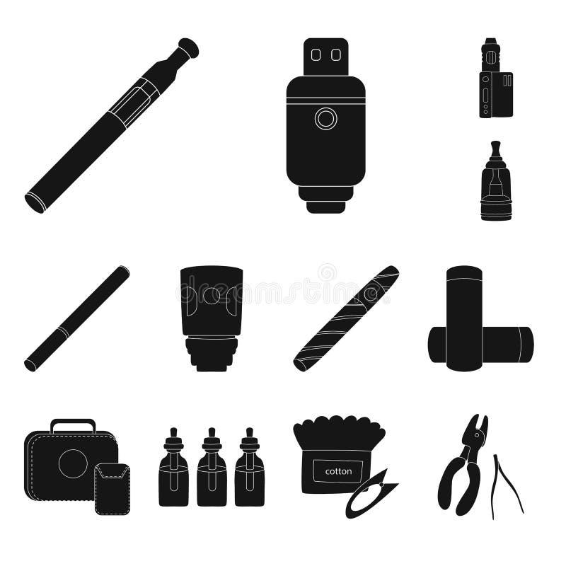 Дизайн вектора e-сигарет и ультрамодного символа Собрание e-сигарет и электронный значок вектора для запаса иллюстрация вектора