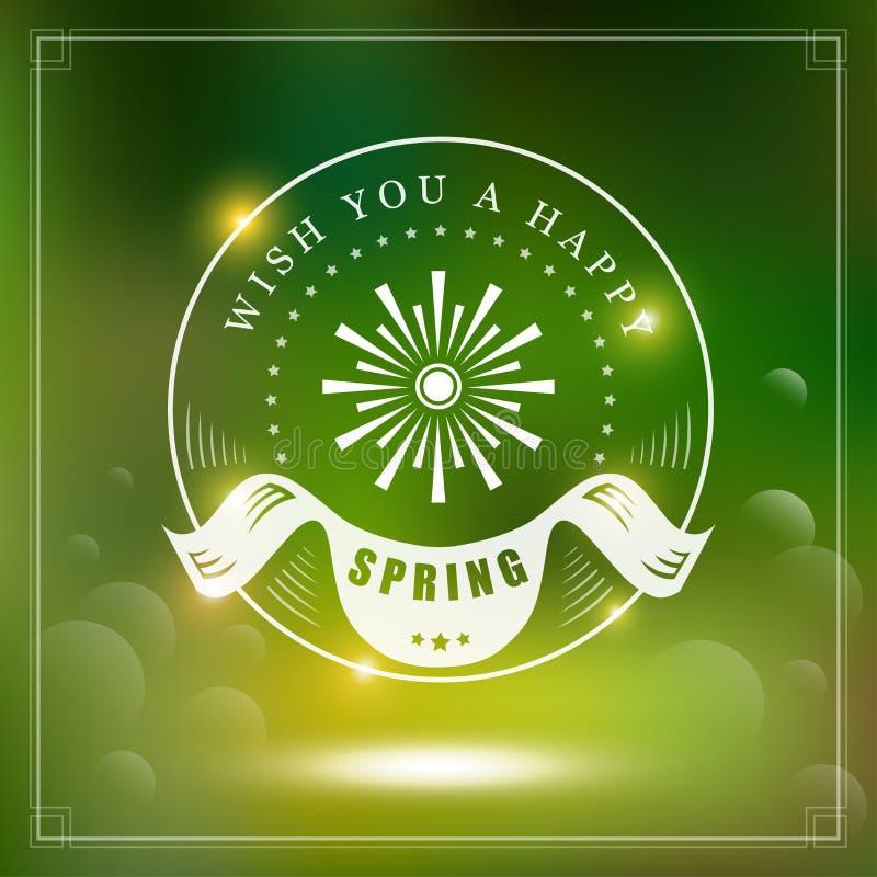 Дизайн весны типографский бесплатная иллюстрация